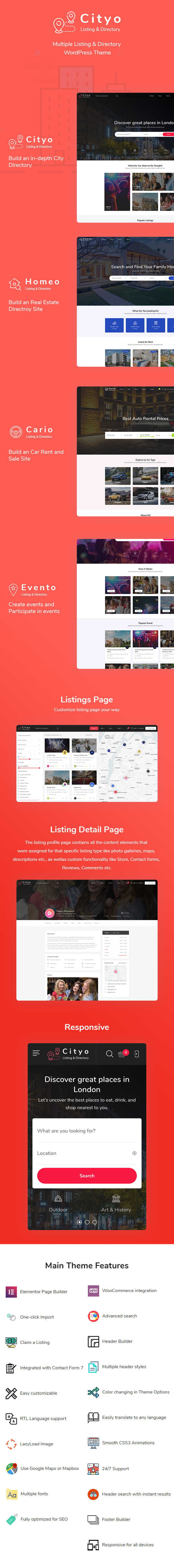 Cityo - Multiple Listing Directory WordPress Theme - 4