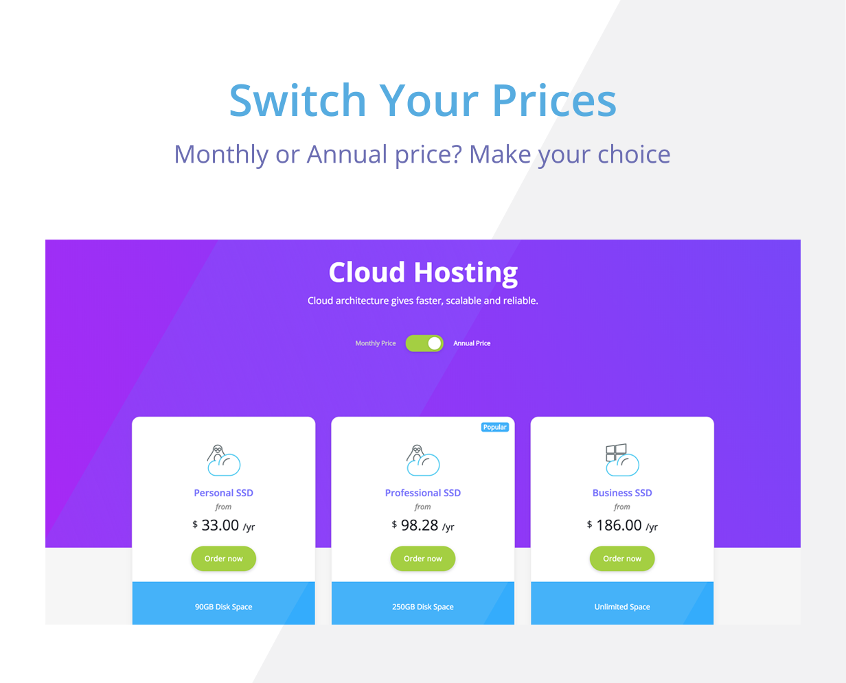 Elastic - Hosting Provider & WHMCS Template by inebur