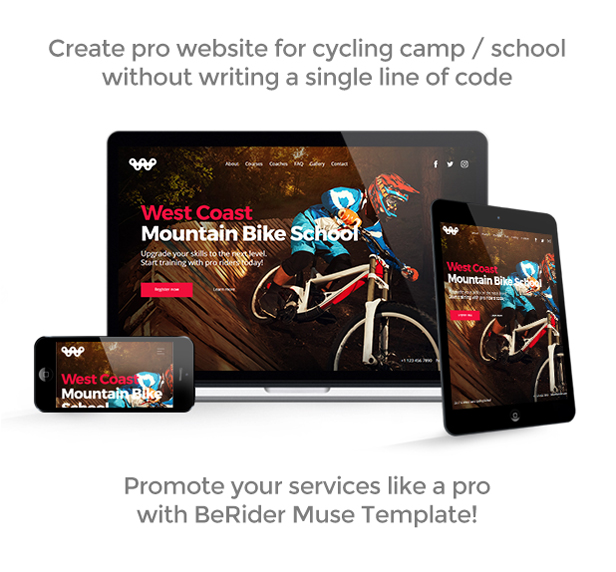 Berider Mountain Bike School Mtb Camp Cycling Courses Responsive Muse Template 1