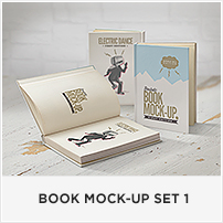 Square Book Mock-up / Dust Jacket Complete Edition - 2