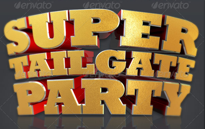 Super Tailgate Isolated 3D Text
