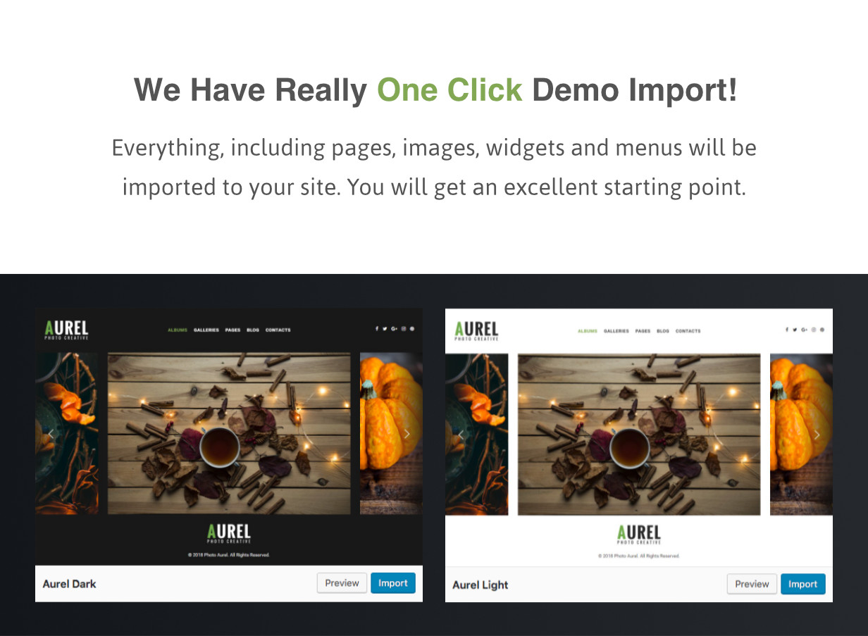 Import Demo Data