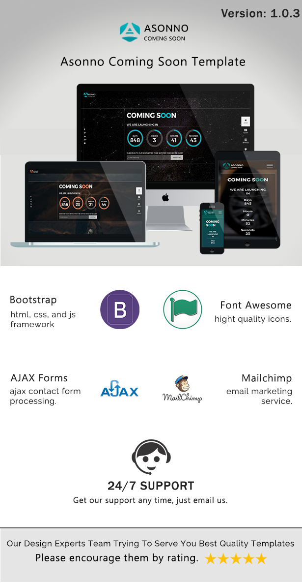Asonno - Coming Soon HTML5 Responsive Template