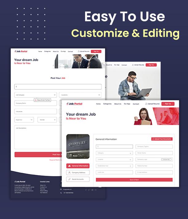 Job Portal Html Template Design Created