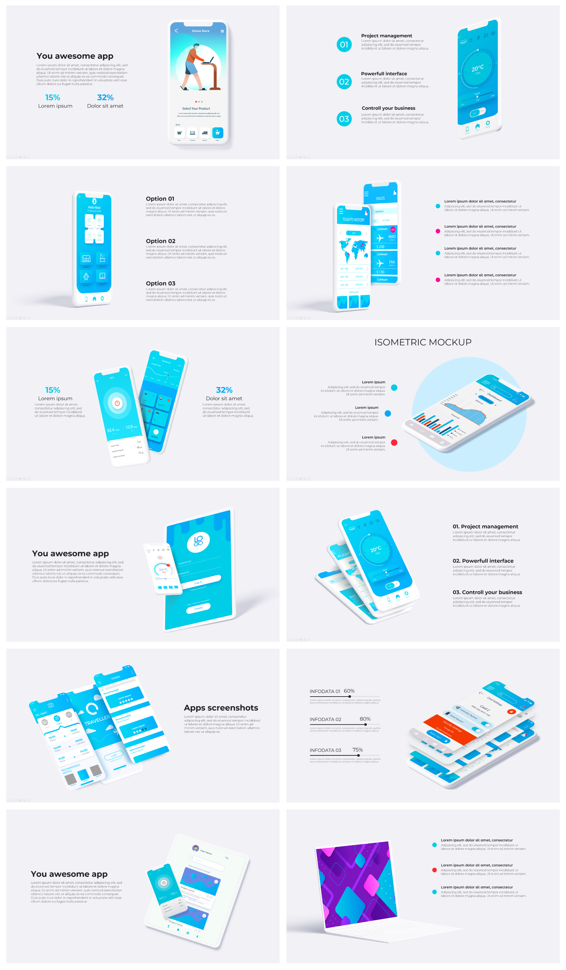 Multipurpose Infographics PowerPoint Templates v.5.0 - 94