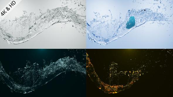 Water Drop Splash Logo - 32