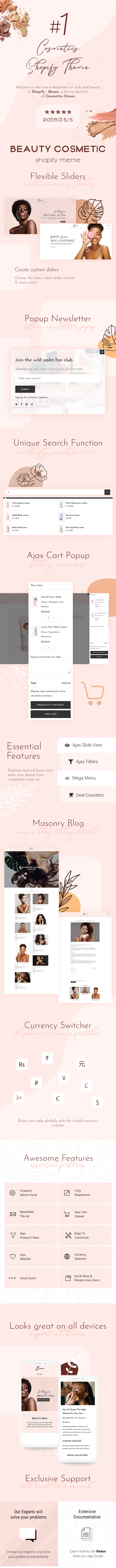 Beaux - Cosmetic Store Shopify Theme - 2