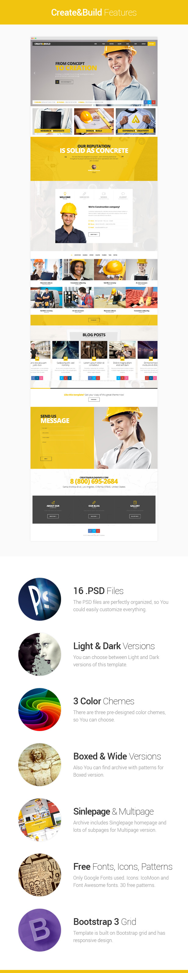Create and Build - Construction and Building template