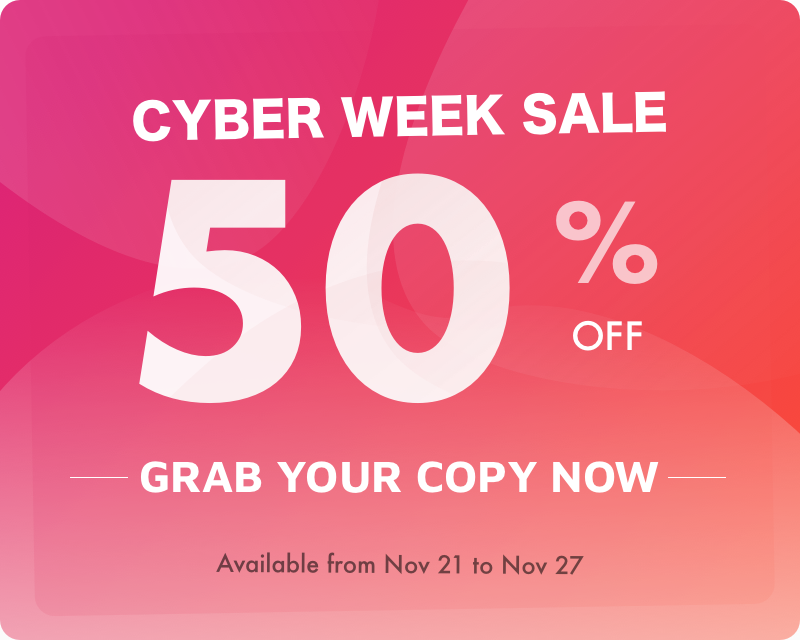 Cyber Sale 50% Off