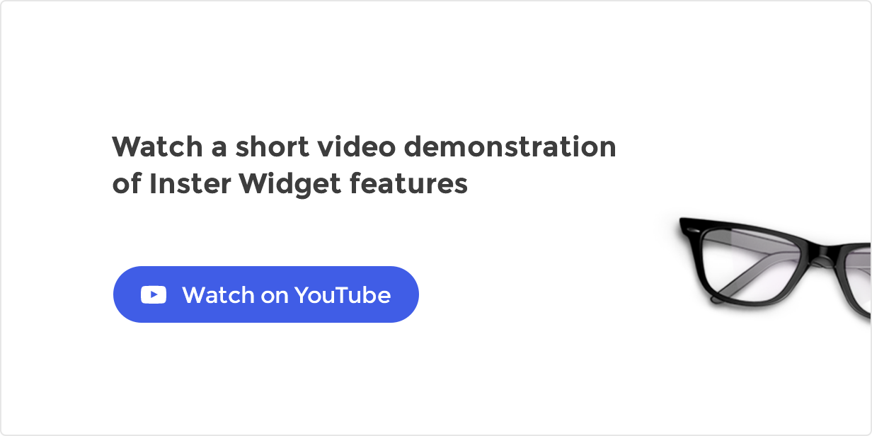 Watch Inster Widget Video Presentation