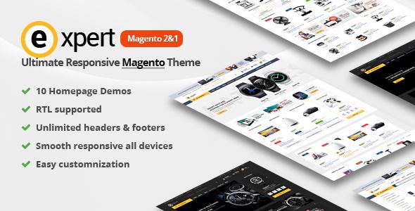 Expert | Premium Responsive Magento 2 and 1 ( support RTL Magento 2 )