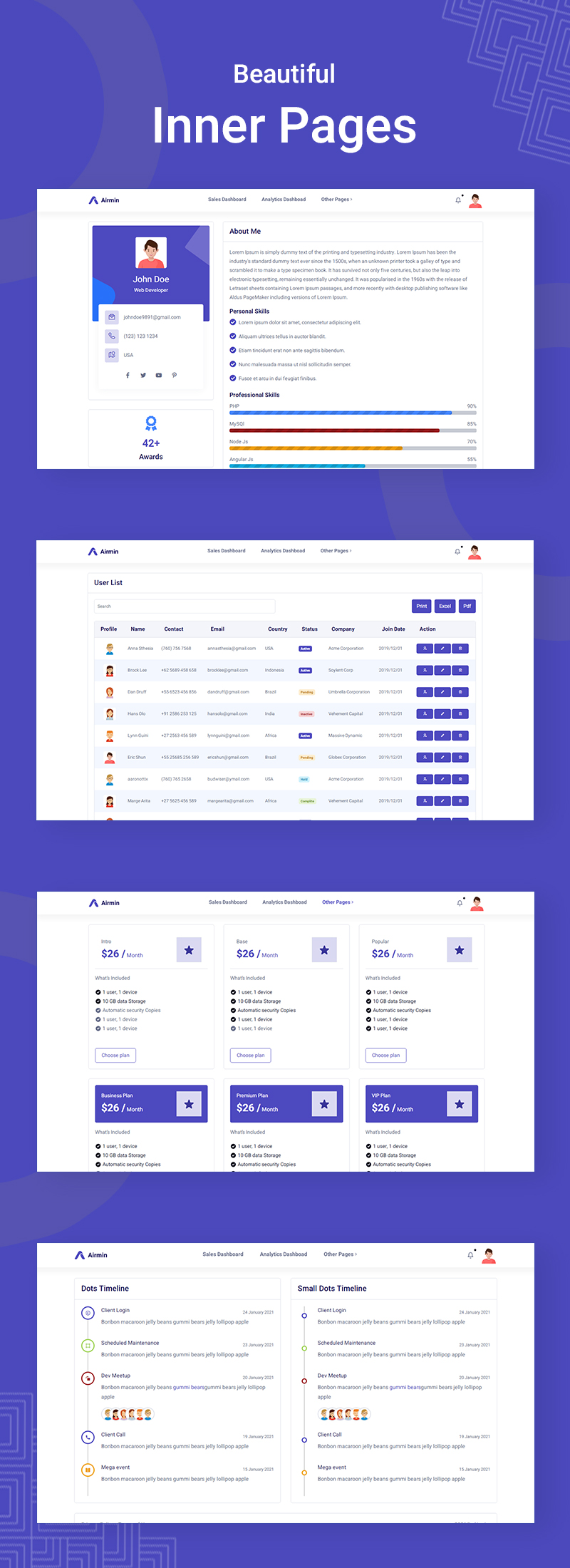 Airmin | Clean HTML SCSS Admin Template - 9