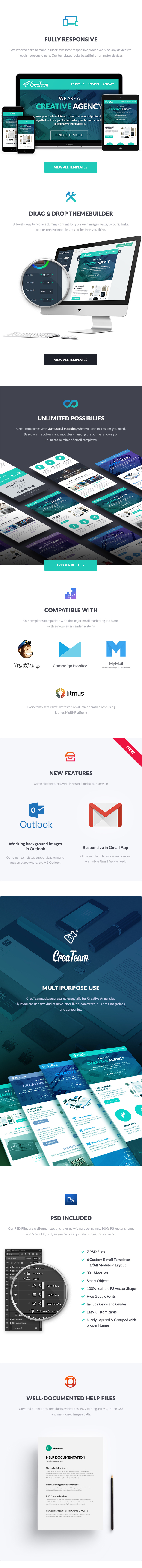 CreaTeam - Multipurpose Agency E-newsletter Template