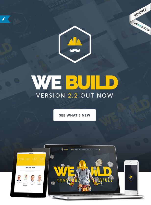 We Build - Construction WordPress Theme - 1