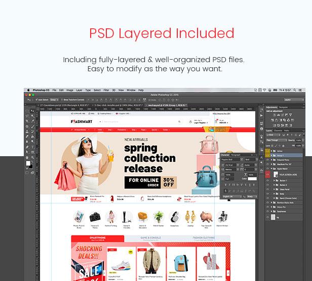 FlashMart - Multipurpose Elementor WooCommerce WordPress Theme - PSD