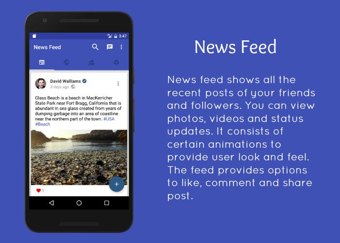 SocialApp - Full Android Application - 2