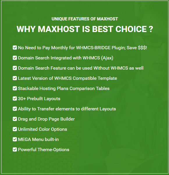 Maxhost Features