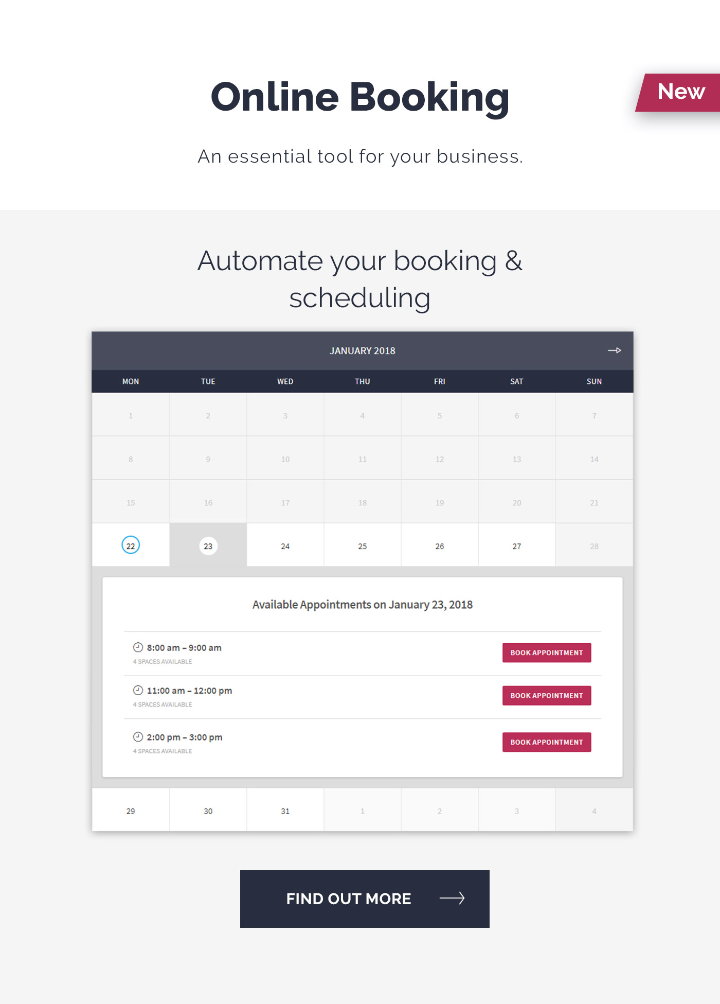 RedSeal online booking feature