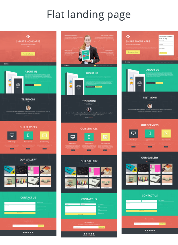 Gotte - Multipurpose Landing Page Muse Template - 1