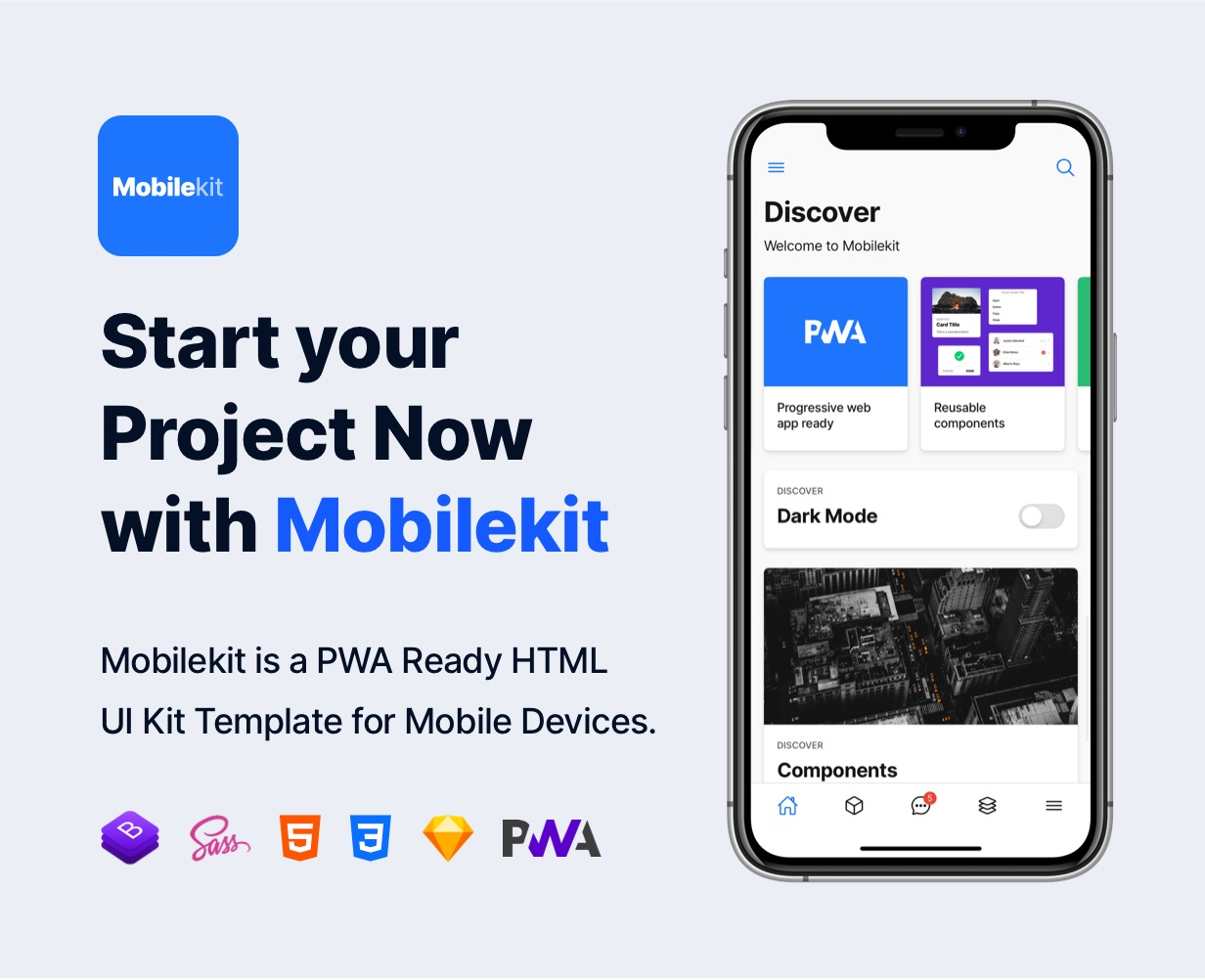 pwa mobile template