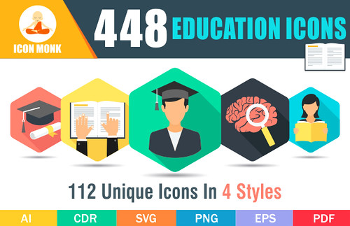 448 Education icons