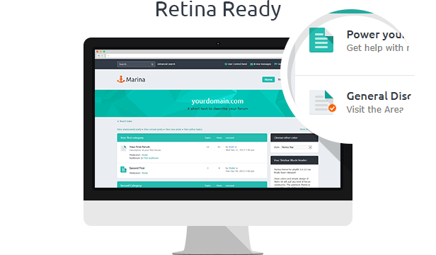 Marina — Responsive & Retina Ready phpBB3 Theme - themeforest, phpbb, forums