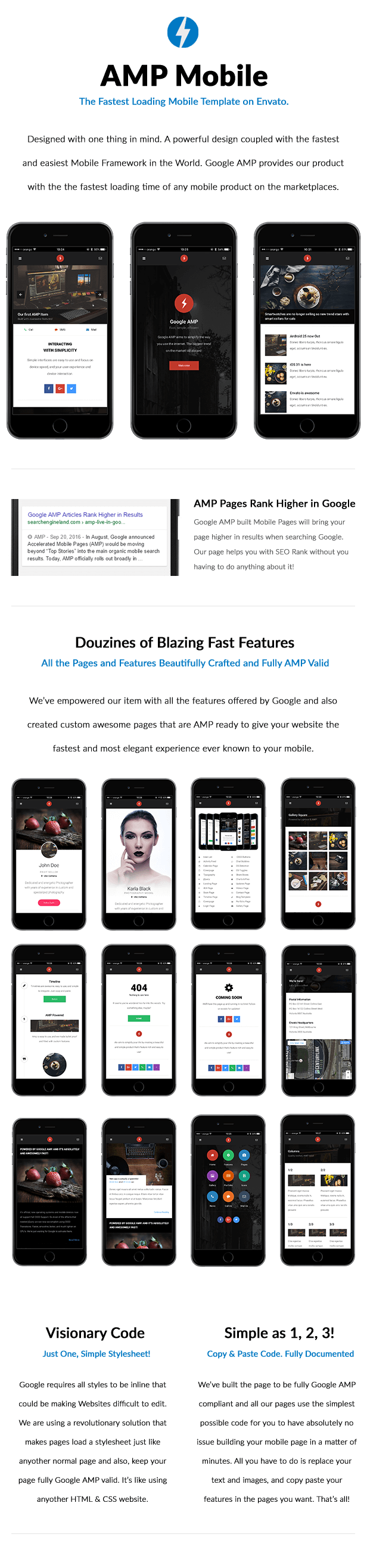 AMP Mobile | Mobile Google AMP Template by Enabled | ThemeForest