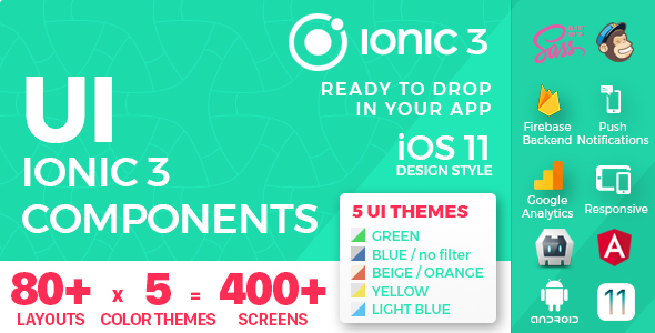 Ionic 3 / Angular 6 UI Theme /  Template App - Multipurpose Starter App - Flat Red Light - 5