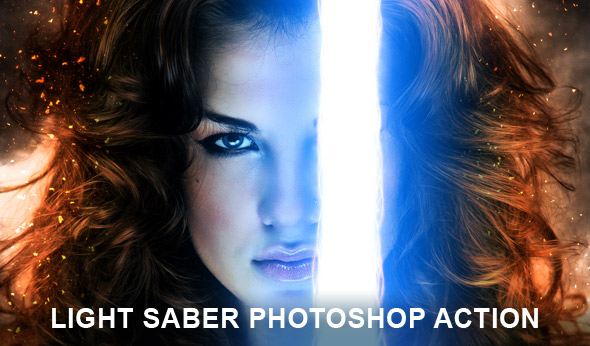 Light saber Photoshop action