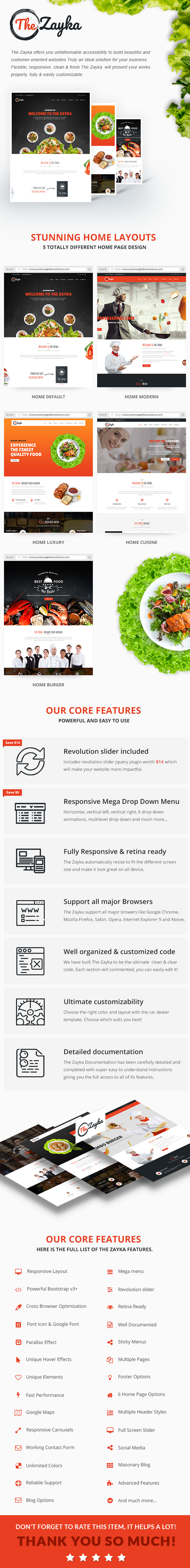 The Zayka - Multipurpose Restaurant, Food & Cafe HTML5 Template - 2