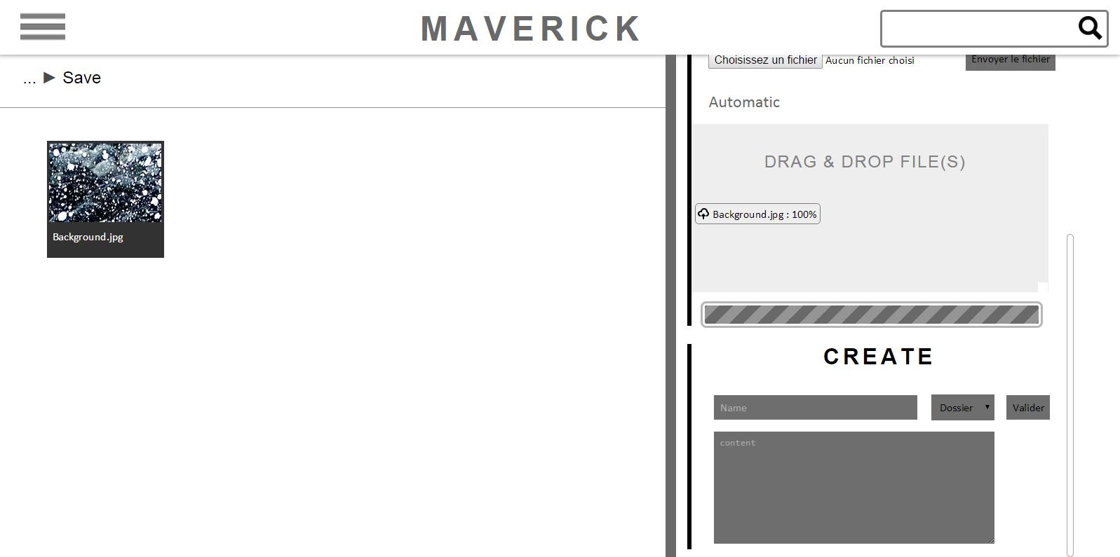 Maverick - Cloud storage website - 2