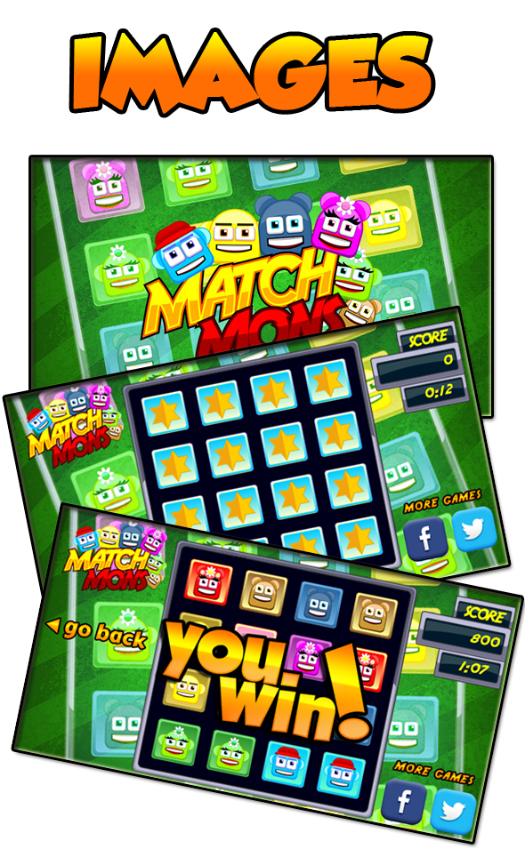 Memory Puzzle Match Mons - HTML5 Educational Game (CAPX) - 5