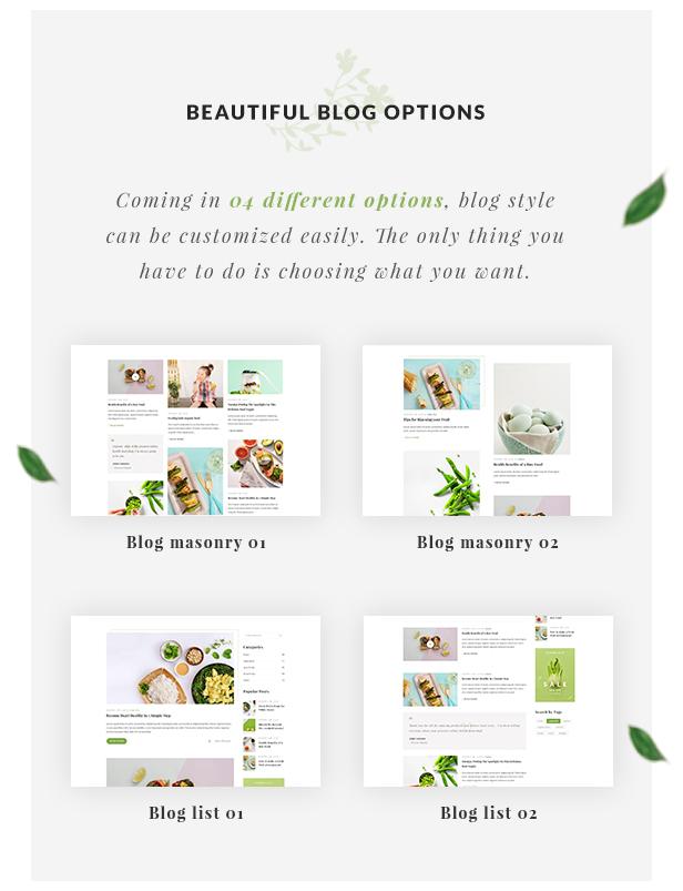Organic Store WordPress theme - Blog Options