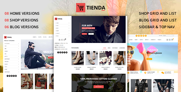 Tienda - eCommerce Joomla Theme with Page Builder - VirtueMart Joomla