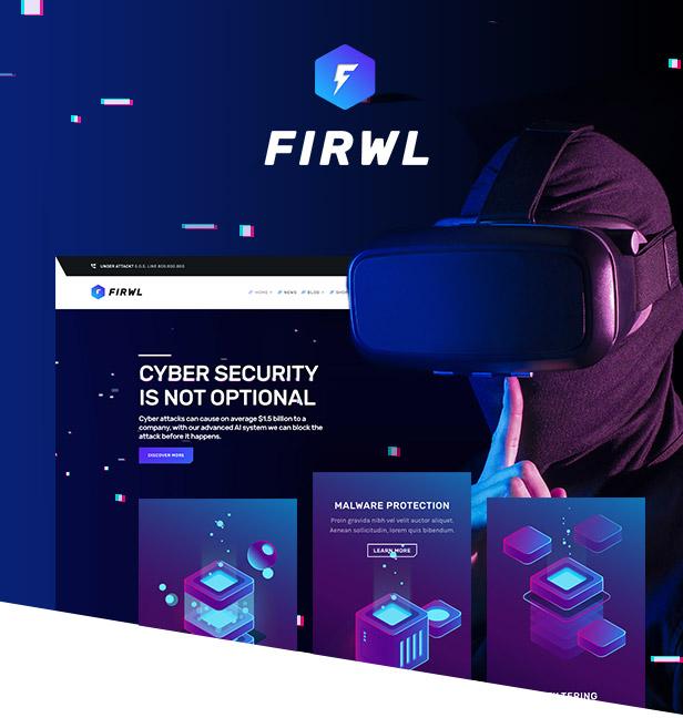 Firwl - Cyber Security WordPress Theme - 1