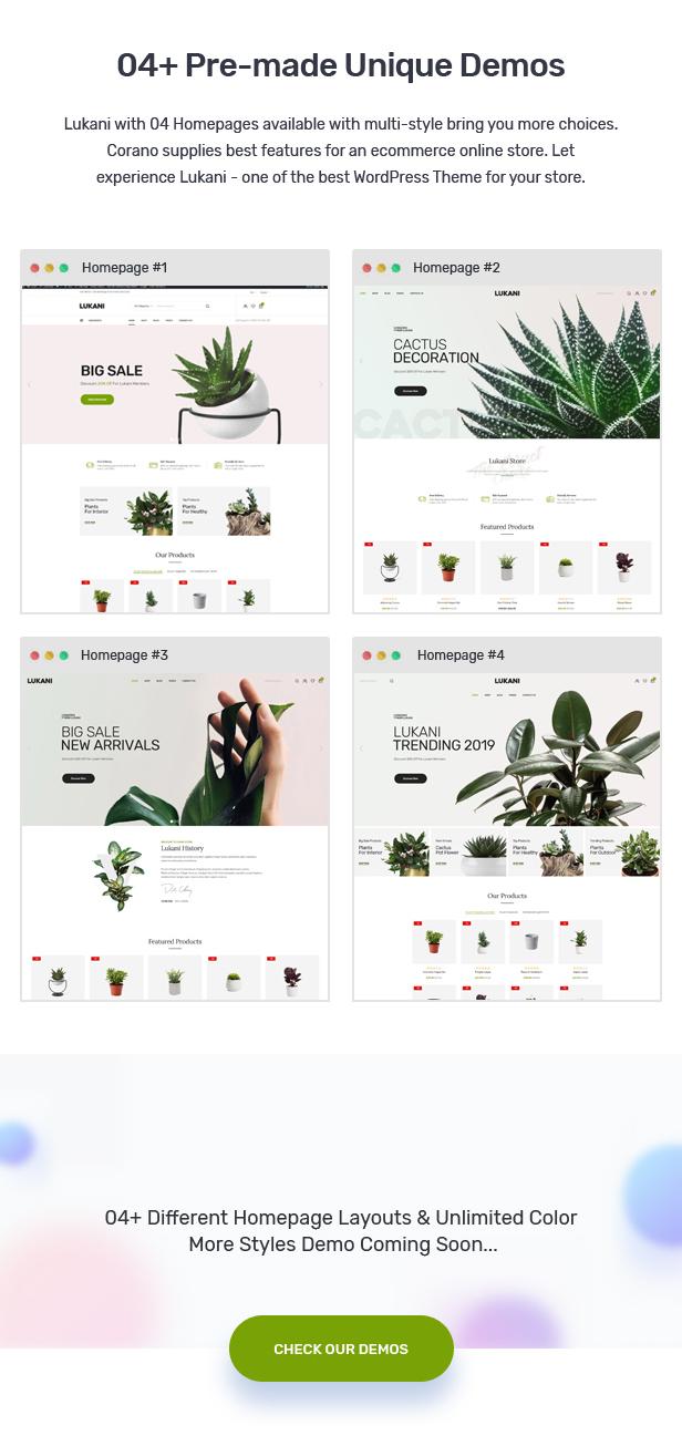 Lukani - Plant Store Theme for WooCommerce WordPress 23