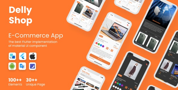 DellyShop eCommerce Application - Flutter (Android & iOS)