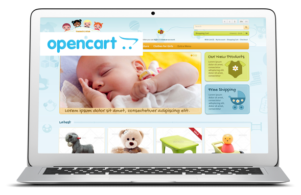 Responsive OpenCart template