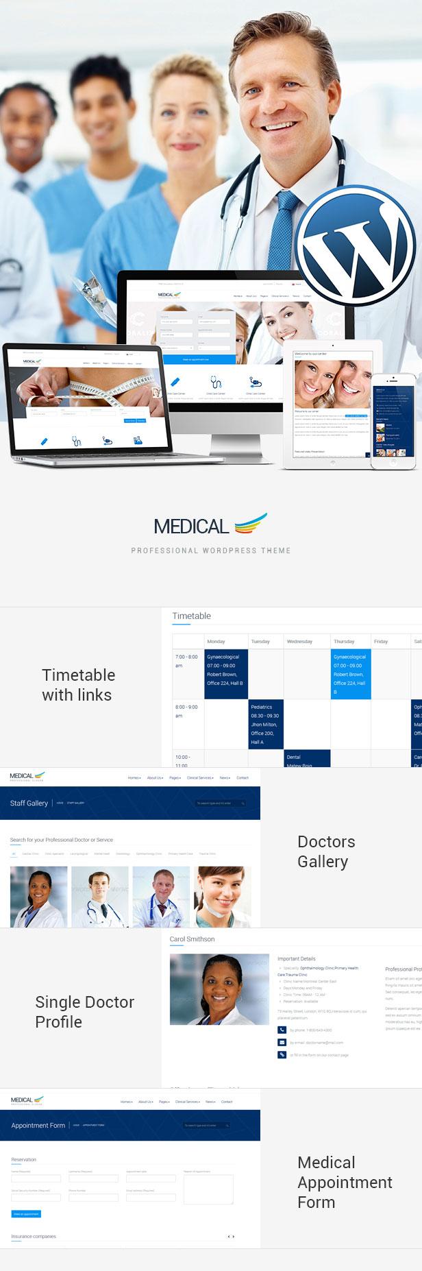 Medical Responsive WordPress Theme Doctors Description