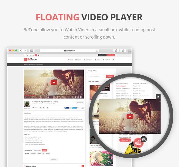 Leitor de Vídeo Flutuante