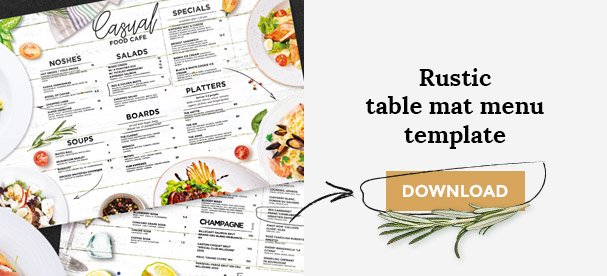 Rustic Menu Template Download