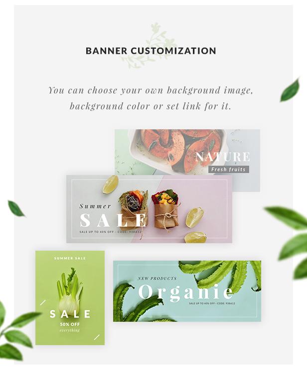 Organic Store WordPress theme - Banner Customization