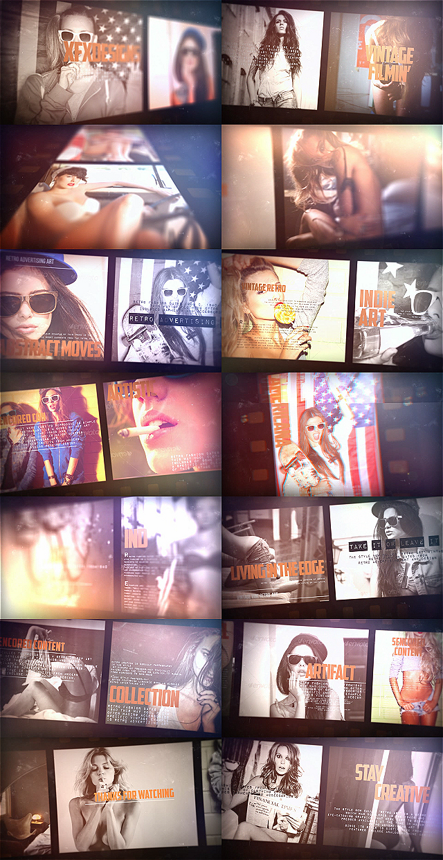 After effects Templates vintage film slideshow