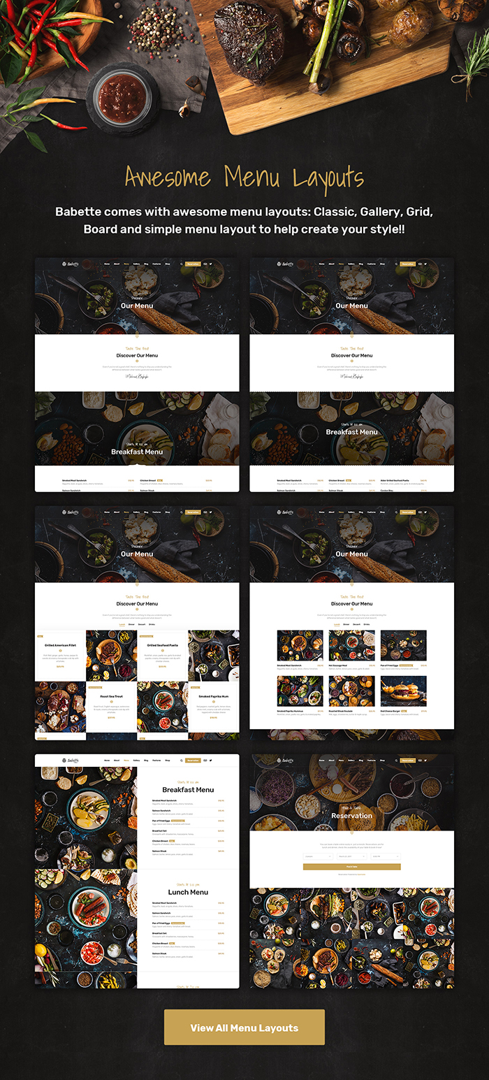 Babette - Restaurant & Cafe WordPress Theme - 6