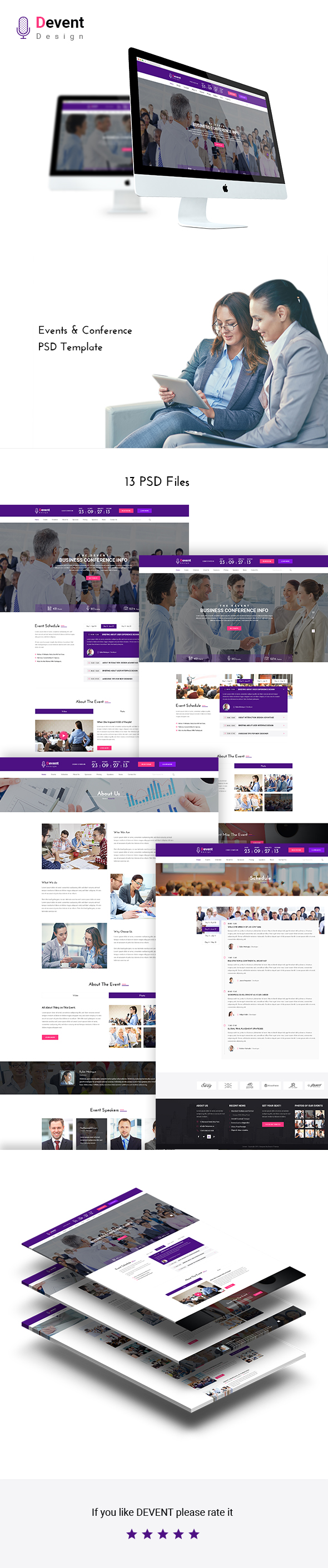 Devent - Events & Conference PSD Template