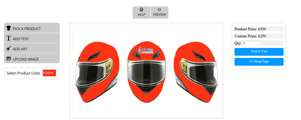WooCommerce Custom Super Bowl Helmet Designer - 9
