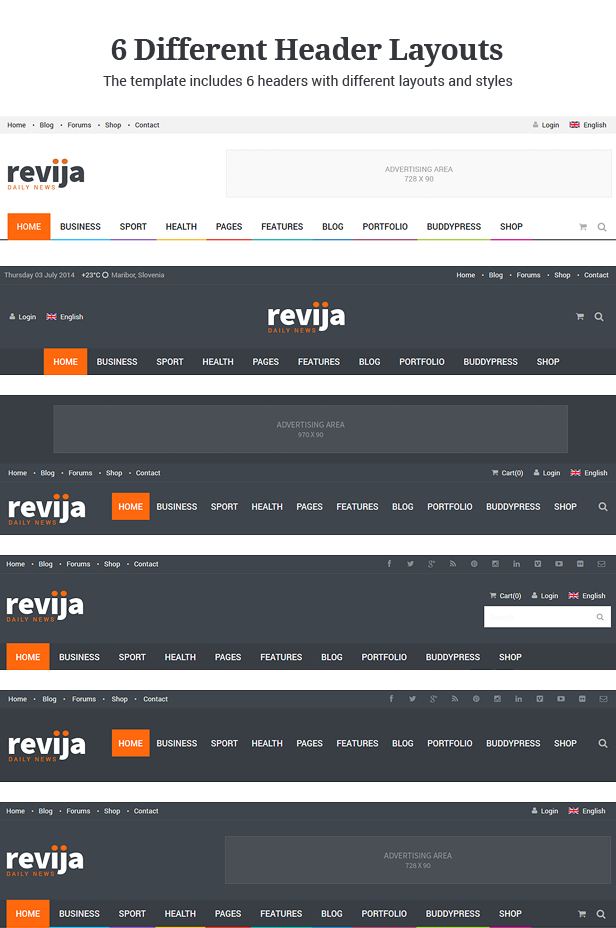 Revija - Premium Blog/Magazine HTML Template - 6