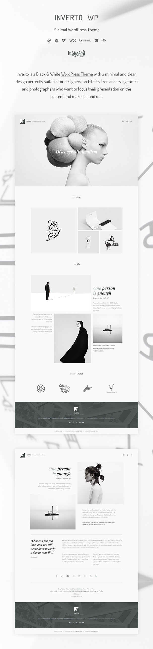IshYoBoy | Inverto - Minimal WordPress theme