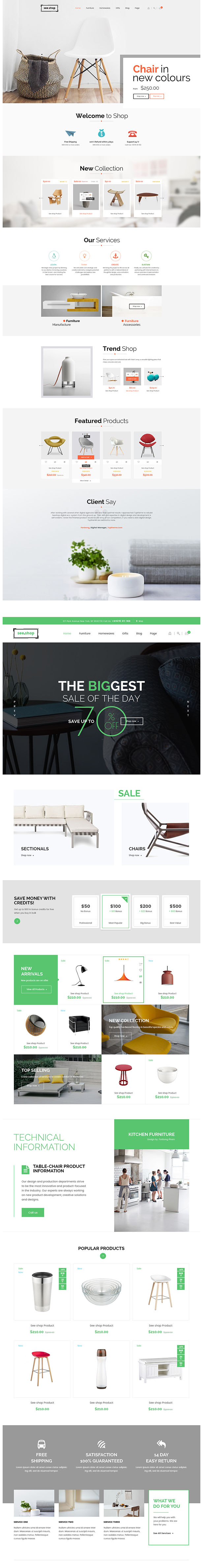 See Shop Furniture - Interior RTL Responsive WooCommerce WordPress Theme - 5
