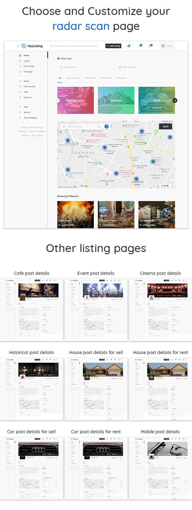 YouListing - Classified Listing and Directory Social Networking PSD Template - 5